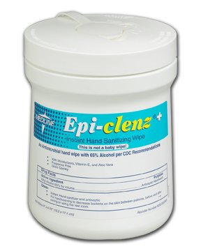 Mckesson Epi-Clenz Instant Hand Sanitizing Wipes 6X6.7'', 160CT 12 Can / 12 Each / Case