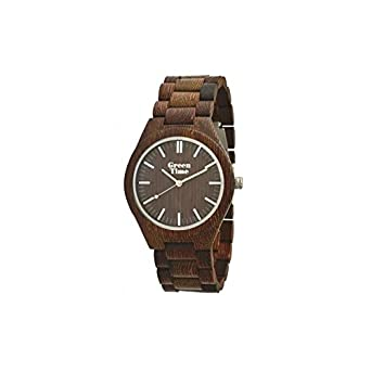 HÖlzerne Uhr Wenge nur Zeit unisex GREEN ZW021D