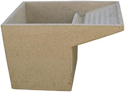 CATART Lavadero Pila Fregadero en hormigón-Piedra para Exterior o Interior 40X60X60cm.: Amazon.es: Jardín