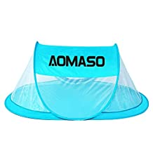 Aomaso Babies Portable Instant Pop Up Play Tent and Travel Tent UV Protection Foldable Sun and Bugs Shelter with Storage Bag for Indoor and Outdoor - Sky Blue