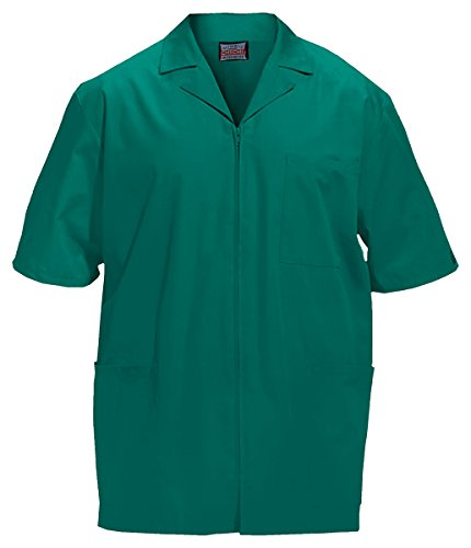 (Cherokee Workwear Men's Zip Front Jacket_Hunter_Large,4300)