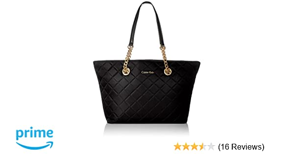 a25df94e48 Amazon.com: Calvin Klein Florence Quilted Nylon Tote Tote Bag, BLK QUILT,  One Size: Clothing