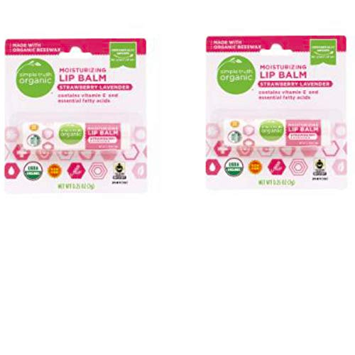 Simple Truth Organic Moisturizing Lip Balm - Strawberry Lavender (Pack of 2)