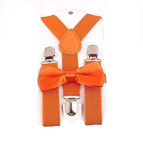 Yuhemii Suspenders unisex elá sticos ajustables con corbata de lazo para niñ os