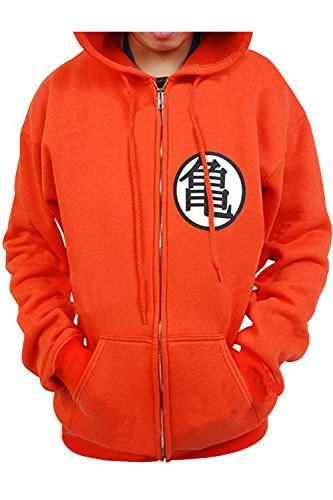Cosplay New Dragon Ball Z DBZ Son Goku Kame Symbol Cosplay Zip Hoodie Costume as shown Large