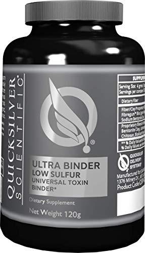 Quicksilver Scientific Ultra Binder Low Sulfur - with Activated Bentonite Clay + Charcoal (120 Grams)