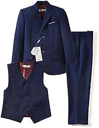 3 Piece Kids Boys' Formal Blazer Vest and Pants Dress Suits Set for Party