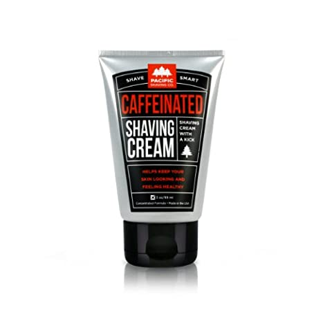 Pacific Shaving Company Caffeinated Shaving Cream, Best Shave Cream for Men and Women - Helps Reduce Appearance of Razor Burn, Naturally Derived Caffeine, Safe Ingredients, Travel/TSA - Best Shave