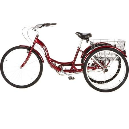26'' Schwinn Meridian Adult Tricycle in Cherry, Blue, Silver, or Mint Green