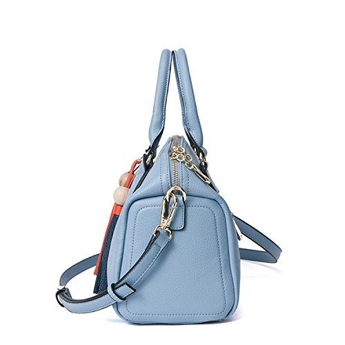 Miyoopark - Bolso estilo cartera de Material Sintético para mujer azul