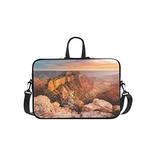 Amazing Views of Grand Canyon Arizona Pattern Briefcase Laptop Bag Messenger Shoulder Work Bag Crossbody Handbag for Business Travelling