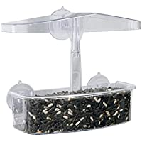 Transparent Bird Feeder with Multiple Suction Cups Concise Window Viewing Bird Feeders Tray Birdhouse Pet Water Feeder…