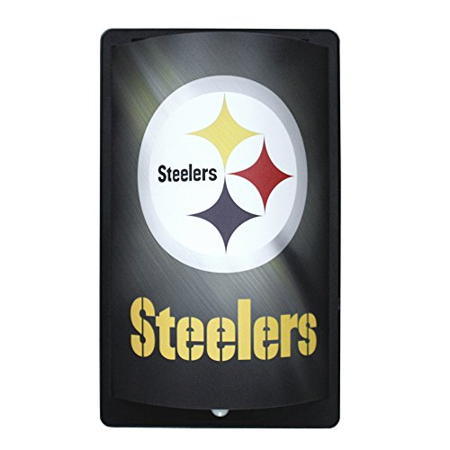 Party Animal NFL Pittsburgh Steelers MotiGlow Light Up Sign, Black, One ()