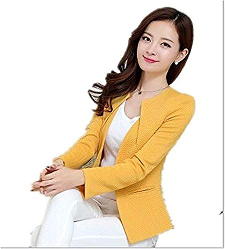 New Women Blazer Coat Casual Jacket Sleeve One Button Suit Outerwear Jackets Y68,XX-Large,Pink