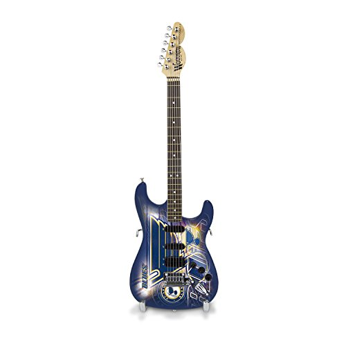Woodrow Guitar by The Sports Vault NHL St. Louis Blues Collectible Mini NorthEnder Guitar