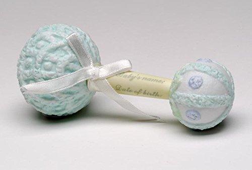 ATD 31617 5'' Baby Boy's Keepsake Blue Mark Able Rattle