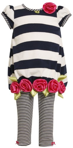 Bonnie Jean Little Girls' Stripe Knit Capri Set