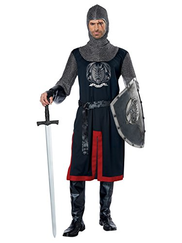 California Costumes Men's Dragon Knight-Adult Costume, Black/Red,