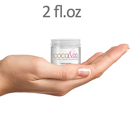 Coconut Oil for Hair & Skin By COCO&CO. Beauty Grade 100% RAW (2oz) Mini Jar by COCO&CO (Image #1)