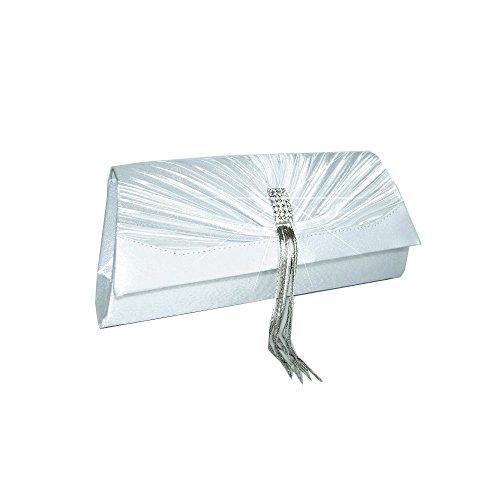 2100 fashion sac by Blanc bag soirée formel Satin Clutch de Pochettes Mod A0wq4R4x