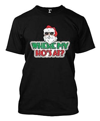 Where My Ho's at? - Funny Christmas Xmas Men's T-Shirt