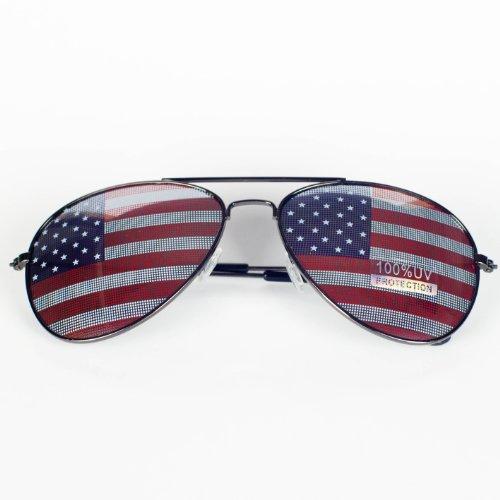 American Flag Aviator Sunglasses Glasses