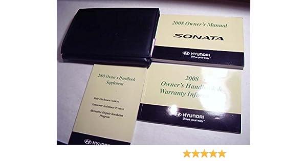 Wondrous 2008 Hyundai Sonata Owners Manual Hyundai Corp Amazon Com Books Wiring 101 Relewellnesstrialsorg