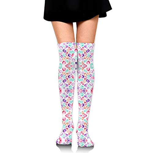 DFAUHAL Goldilocks & The Three Bears Stripe Wallpaper Novelty Socks Tall Socks Knee High Graduated Compression Socks for -