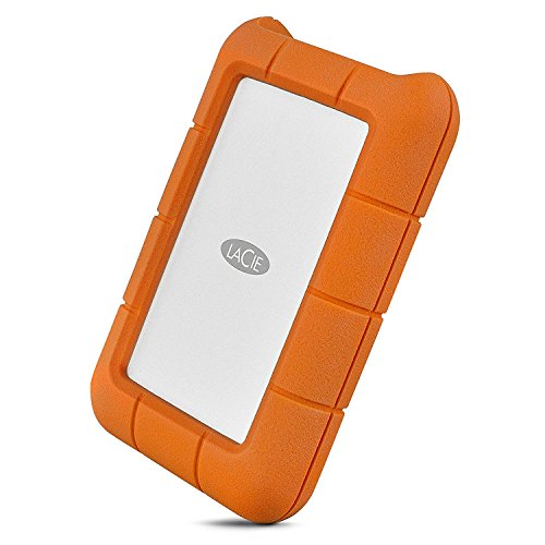 LaCie Rugged USB-C 4TB External Hard Drive Portable HDD - USB 3.0, Drop Shock Dust Rain Resistant Shuttle Drive, for Mac and PC Computer Desktop Workstation Laptop, 1 Month Adobe CC (STFR4000800)