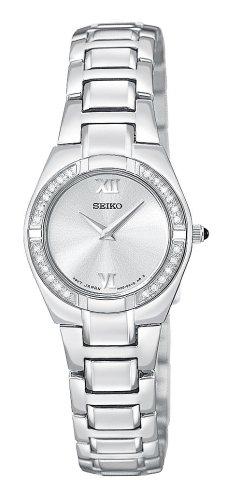 Seiko Women's SUJF09 Diamond Silver-Tone Watch
