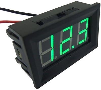 Battery Voltage Display Digital LED Mount Voltmeter  DC Case Panel 0V-30V