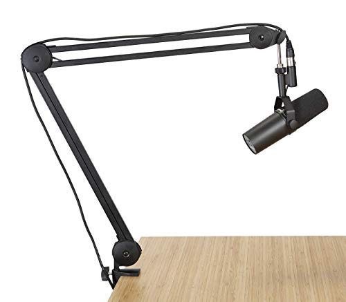Gator Frameworks Deluxe Desk-Mounted Broadcast Microphone Boom Stand for Podcasts & Recording (GFWMICBCBM2000) (Renewed)