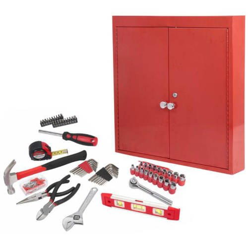 Hyper Tough 151-Piece Hand Tool Set, Metal Wall ()