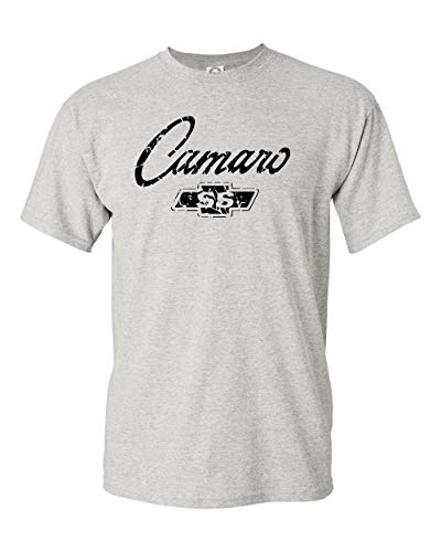 Chevy Camaro SS Classic American Muscle Car T Shirt Adult Sizes S-3X Various (L, Grey) (Chevy Car Camaro Muscle)