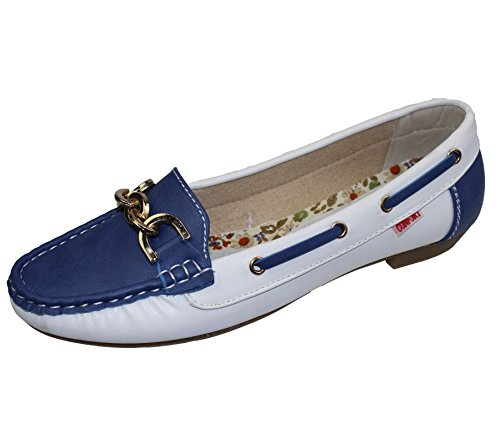 WOMENS LADIES LOAFERS FLAT CASUAL COMFORT OFFICE WORK SCHOOL TASSEL CLASSIC PUMPS SHOES Blue