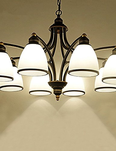 Wrought iron chandelier,Glass lighting,LED pendant lamp,Crystal pendant lamp,colored pendant luminaires Retro Antik metal droplight sitting room/bedroom/restaurant/classroom/ , 220-240V