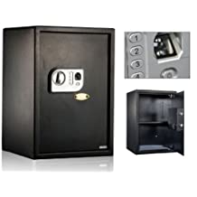 New 2 cf. Biometric Fingerprint & Combination Lock Safe Box for Office or Home