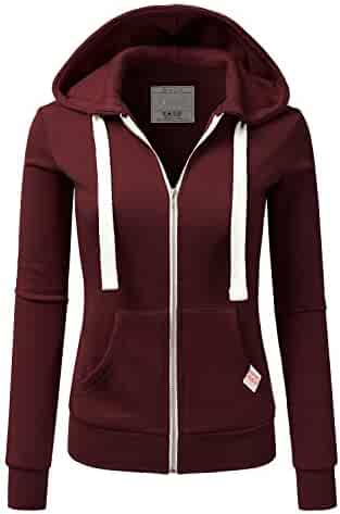 945b57359456a2 Doublju Lightweight Thin Zip-up Hoodie Jacket for Women with Plus Size