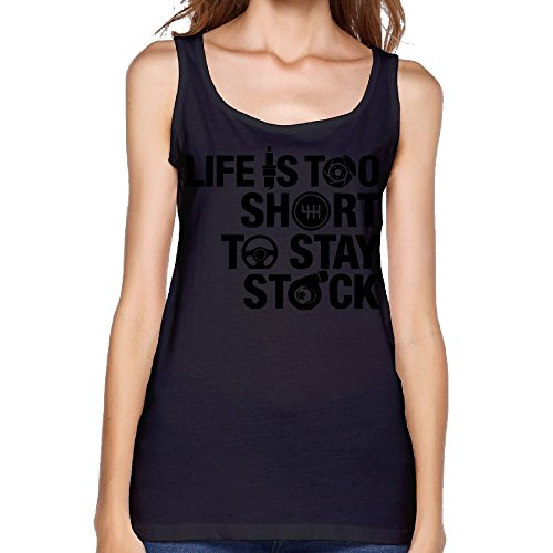 Women's Life's Too Short to Stay Stock Fashion Sleeveless Vest Novelty Tank Tops Graphic Tee -