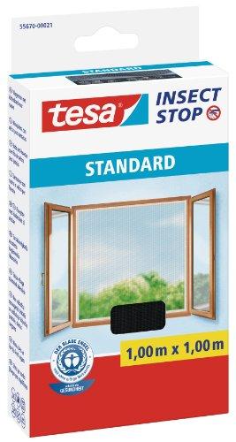Tesa 55670-00021 Zanzariera Insect Stop Standard per Finestre, 1 x 1 m