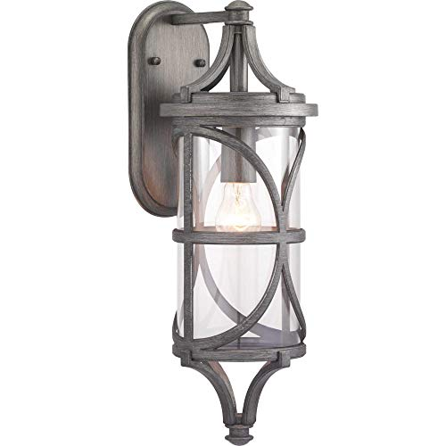 Progress Lighting P560117-103 Morrison Collection One-Light Medium Wall Lantern Antique Pewter ()