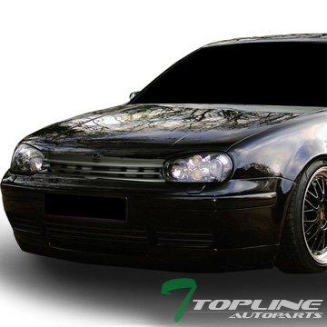 Topline Autopart Matte Black Horizontal Front Hood Bumper Grill Grille ABS For 99-06 Volkswagen Golf/GTI / R32 MK4
