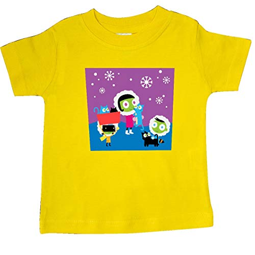 (inktastic Winter Cat Rescue with Dot, Baby T-Shirt 24 Months Yellow - PBS Kids)
