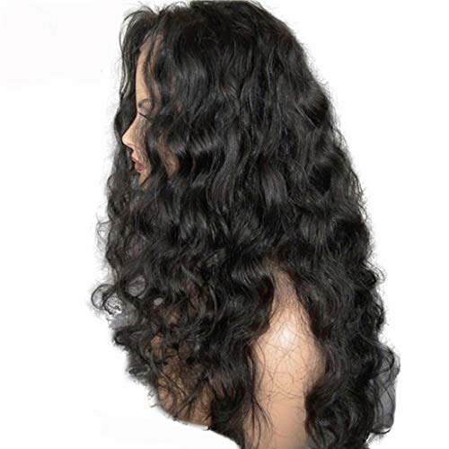- Loose Wave Lace Front Human Hair Wig Glueless Virgin Hair Brazilian 8-30inch Side Part Wig With Natural Hairline Baby Hair (18inch 130density, lace front wig)