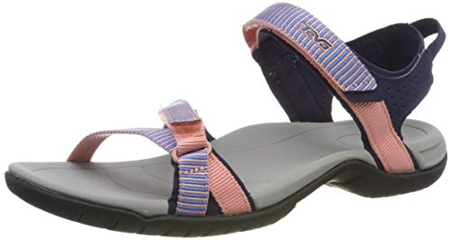 Teva Women's W Verra Sandal, SPILI Ladder Apricot Blush, 9 Medium US (850 Store)