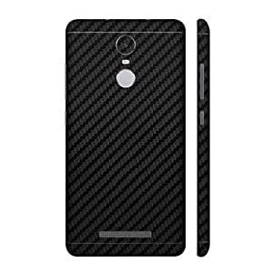 For Xiaomi Redmi Note 3 Mobile Skin Wrap Back and Side by Smart Saver - Carbon Black