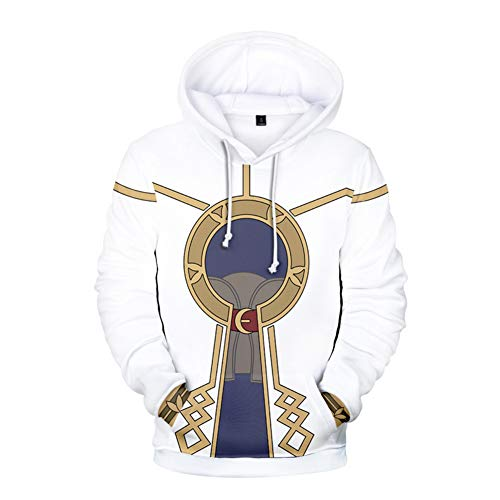 (Xiao Maomi Heroes Robin Daraen Cosplay Costume Game Hoodie Adult 3D Pinrted Sweatshirt Shirt for Halloween (XL,)