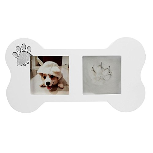 Mogoko Dog Cat Paw Clay Print Picture Frame Imprint Kit, Inkless Pet Foot Stamp Impression Keepsake Ornament, Pet Memorial Gift
