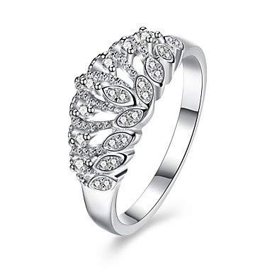 Silver 6 FSKLN Ring AAA Cubic ZirconiaBasic Circular Unique Design Rhinestone Heart Geometric Friendship Turkish Gothic Cute Style Euramerican Crossover