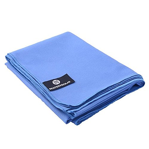 MATEDSOUS Blue Color Large Microfiber Fast Drying Towel for Gym, Sports, Running, Swimming, Beach. Travel- PERFECT Size for hair drying-31 x 23 Inches